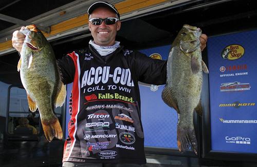 Bassmaster Champion Angler Brent Shores on Lake Champlain