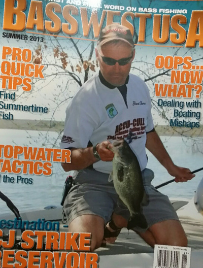Accu-Cull Founder and Inventor Brent Shores on the cover of BasswestUSA Magazine